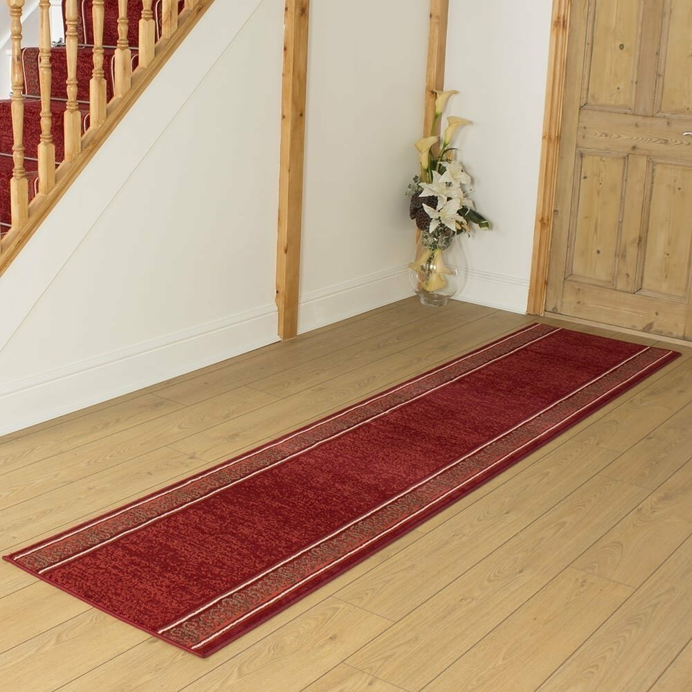 Bankhead Tufted Red Hallway Runner Rug