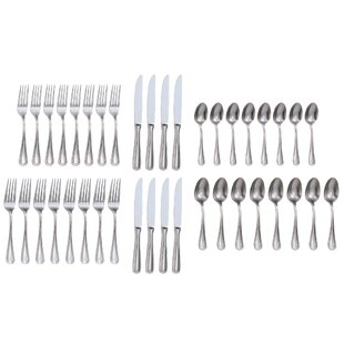 Rybicki 40 Piece 18/10 Stainless Steel Flatware Set, Service for 8