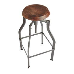 Turner Height Adjustable Swivel Bar Stool By Industville