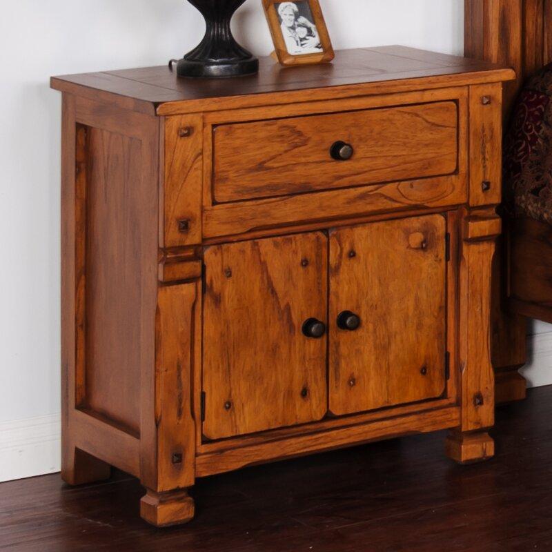 Loon Peak Fresno 1 - Drawer Nightstand in Rustic Oak