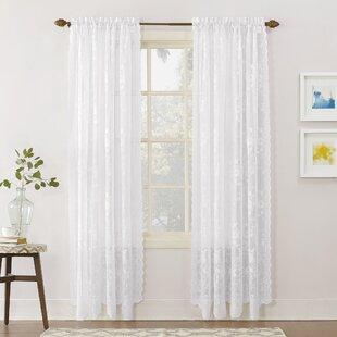 White Cotton Lace Curtains Wayfair Ca