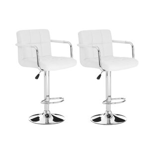 Caylee Height Adjustable Swivel Bar Stool (Set Of 2) By Zipcode Design