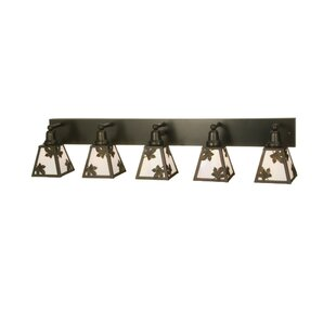 Meyda Tiffany Leaf 5-Light Vanity Light
