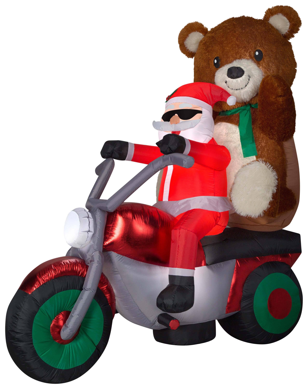 HARLEY-DAVIDSON 12/'/' TEDDY BEAR STUFFED Holiday Rider Bear Christmas Gift