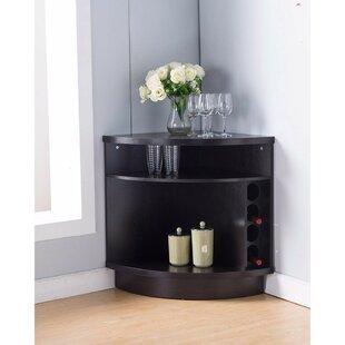 Latitude Run Wallen Space Efficient Stylish Corner Accent Cabinet