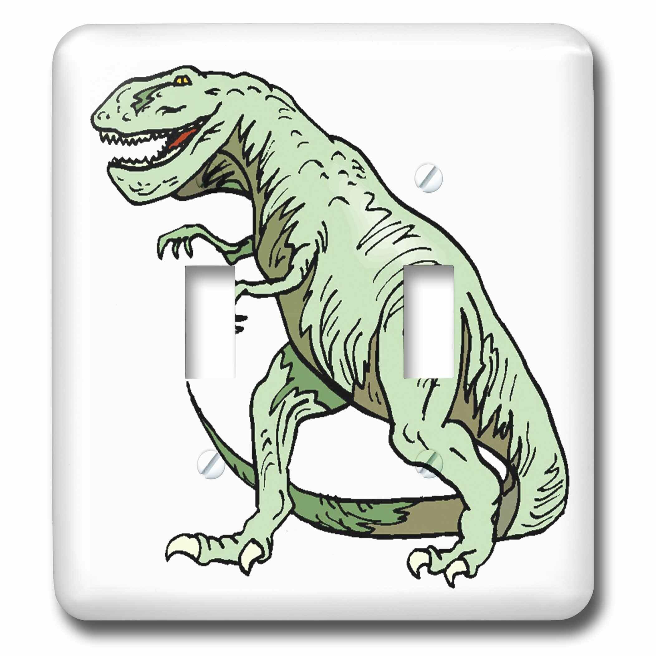 3drose T Rex Dinosaur 2 Gang Toggle Light Switch Wall Plate Wayfair