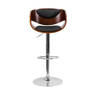 Philip Adjustable Height Swivel Bar Stool Orren Ellis