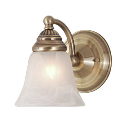 Moyer 1 Light Dimmable Armed Sconce Andover Mills Finish Antique Brass Shefinds