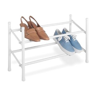 Expandable 2-Tier 6 Pair Stackable Shoe Rack By Whitmor, Inc