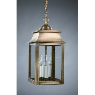Northeast Lantern Concord 3-Light Outdoor Hanging Lantern