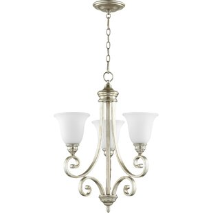 Winston Porter Cambron 3-Light Shaded Chandelier