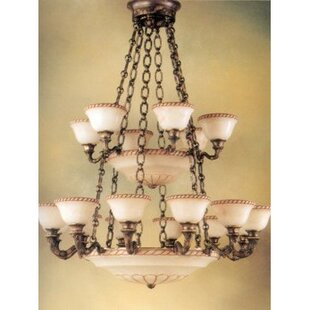 Zanin Lighting Inc. Valencia 27-Light Shaded Chandelier