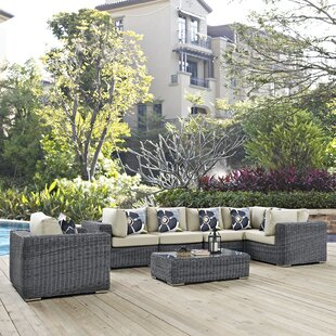 Keiran 7 Piece Sunbrella Sectional Set with Cushions