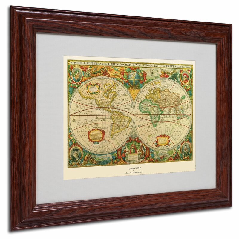 Trademark art old world map painting framed graphic art reviews old world map painting framed graphic art gumiabroncs Gallery