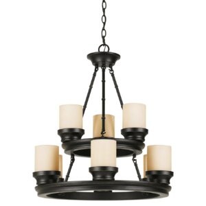 Gravois 9-Light Shaded Chandelier