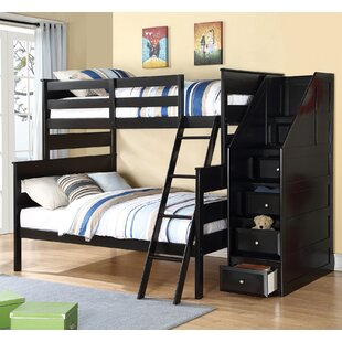 Harriet Bee Rolland Twin over Full Bunk Bed with Storage Ladder