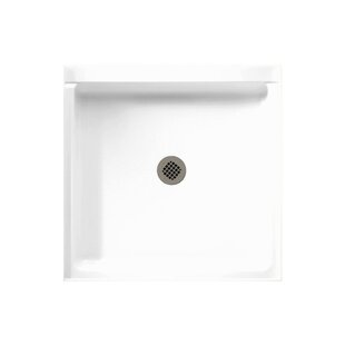 Veritek Single Threshold Shower Base with Fit-Flo Drain by Swan Surfaces