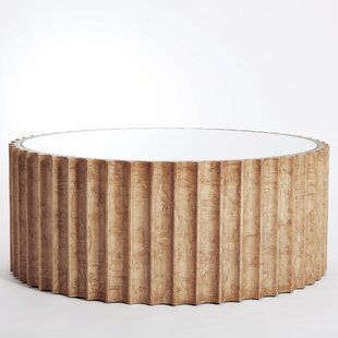 Global Views Reflective Column Coffee Table