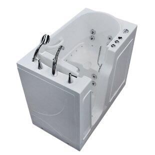 Read Reviews Prairie 45.7 x 26 Whirlpool & Air Jetted Bathtub ByTherapeutic Tubs