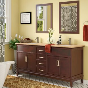 Affordable Middleton 72 Double Bathroom Vanity Set with Mirror and Faucet ByAndover Mills