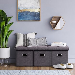 Winston Porter Revis Upholstered Storage Bench