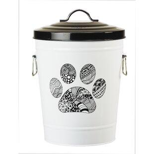 Zentangle Paw Food Bin Pet Treat Jar  sc 1 st  Wayfair & Decorative Dog Food Bins | Wayfair