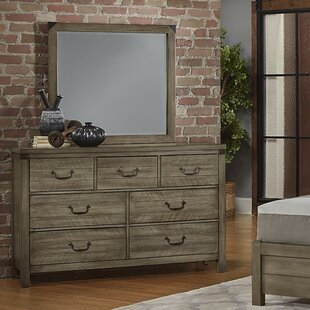 Rakowski 7 Drawer Dresser With Mirror