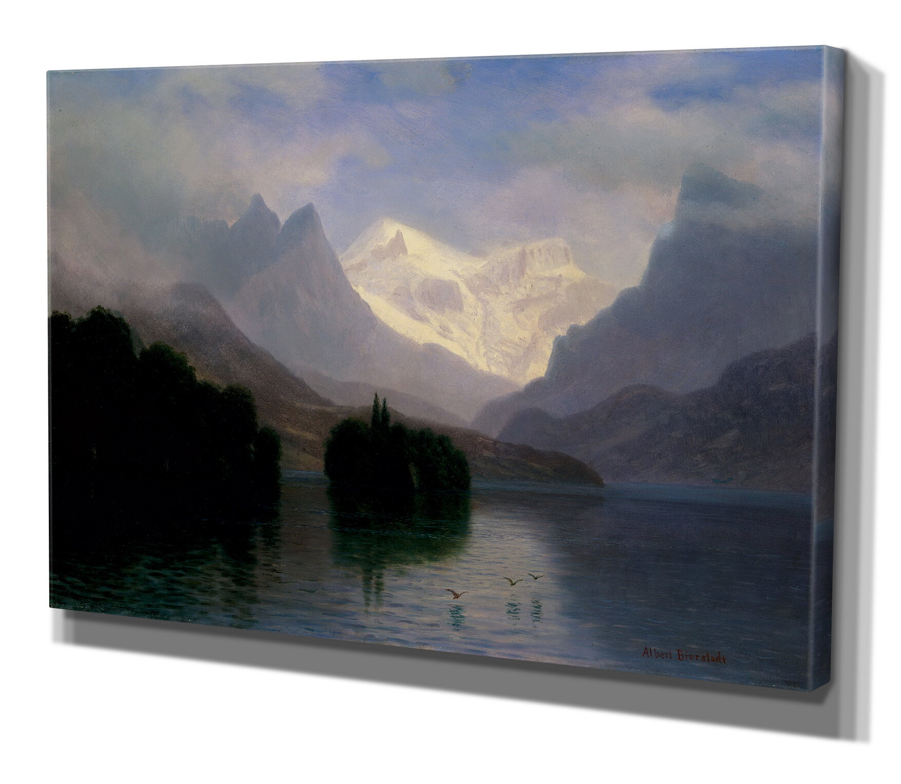 Wexfordhome Mountain Scene By Albert Bierstad Print Of Painting On Wrapped Canvas Reviews Wayfair