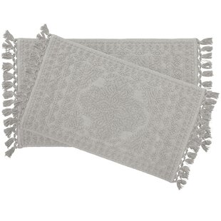 Dekker Fringe Cotton 2 Piece Bath Rug Set