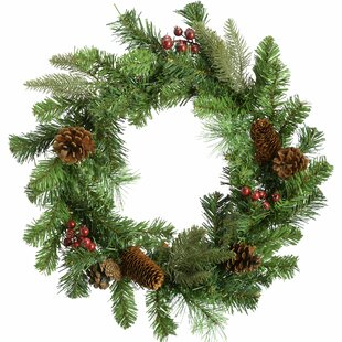 Review Natural Cones And Berries Christmas 60cm Christmas Wreath