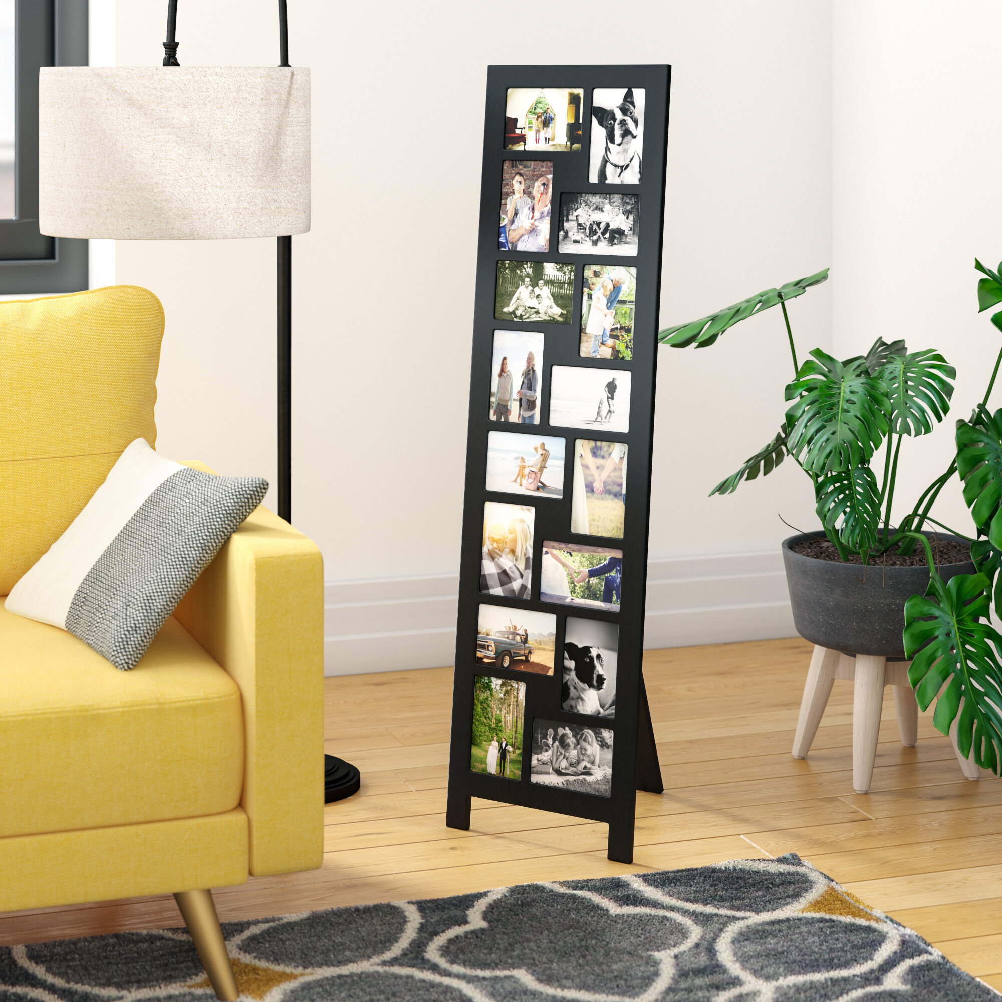 Guyer 16 Opening Wood Floor Standing Easel Picture Frame