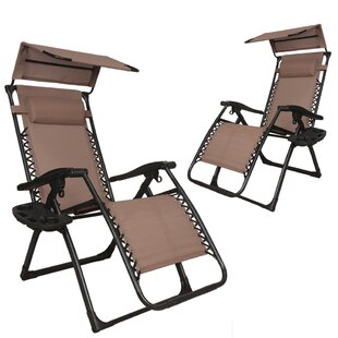 Freeport Park Skinner Patio Lounge Zero Gravity Chair (Set of 2)