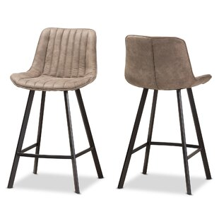 Ellett 25.59 Bar Stool (Set of 2) Mercury Row