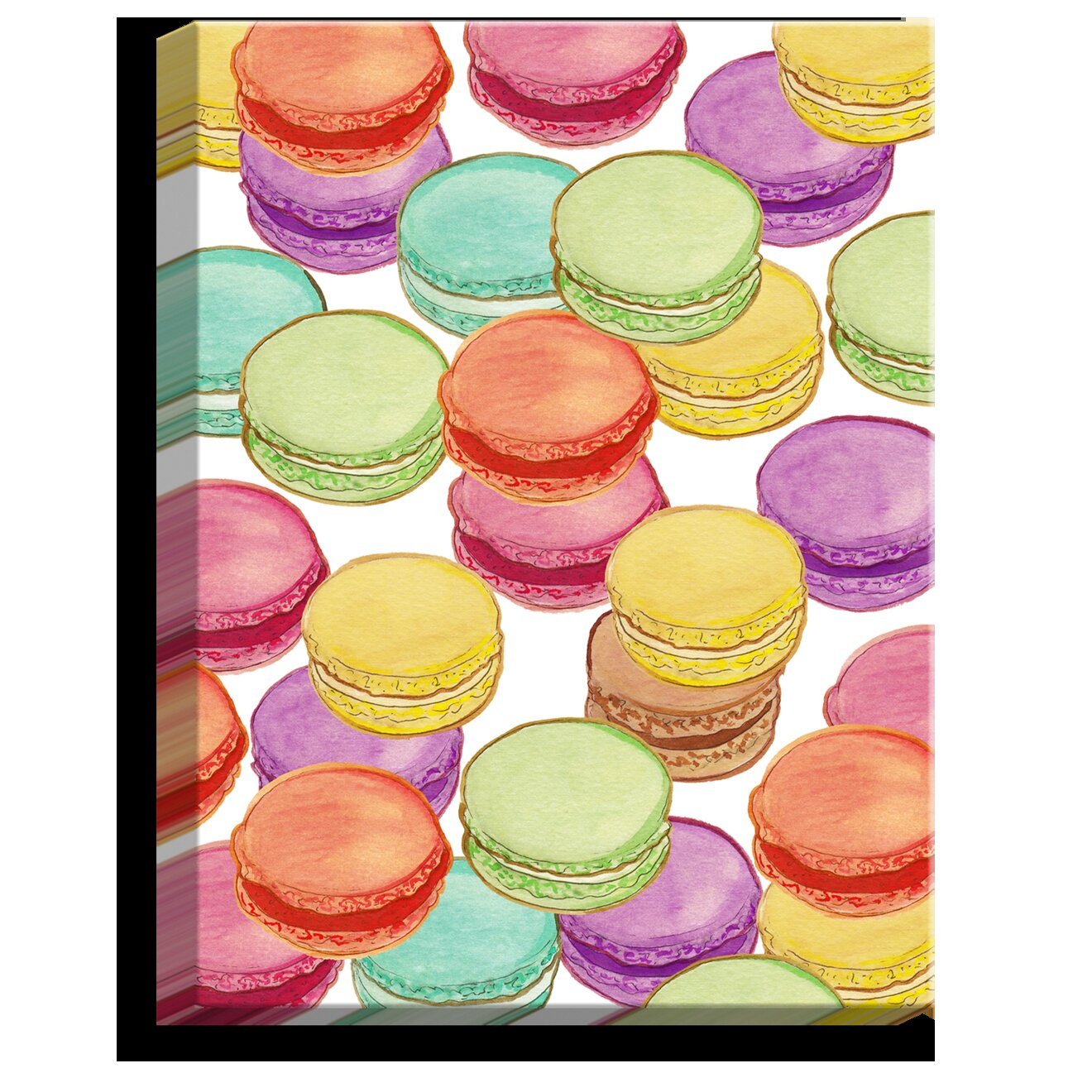 Dianochedesigns Laduree Macaroons Ii By Diana Evans Painting Print On Wrapped Canvas Wayfair