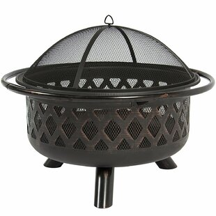 Belleze Steel Wood Burning FirePit