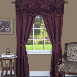 Hedrick Solid Semi-Sheer Rod Pocket Curtain Panels (Set of 2) by Rosdorf Park