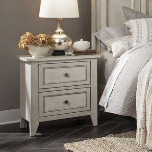 Stoughton 2 Drawer Nightstand by Rosecliff Heights