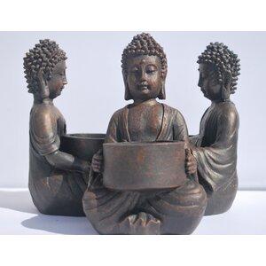 Global Baby Buddha Polyresin Tealight Holder (Set of 6)