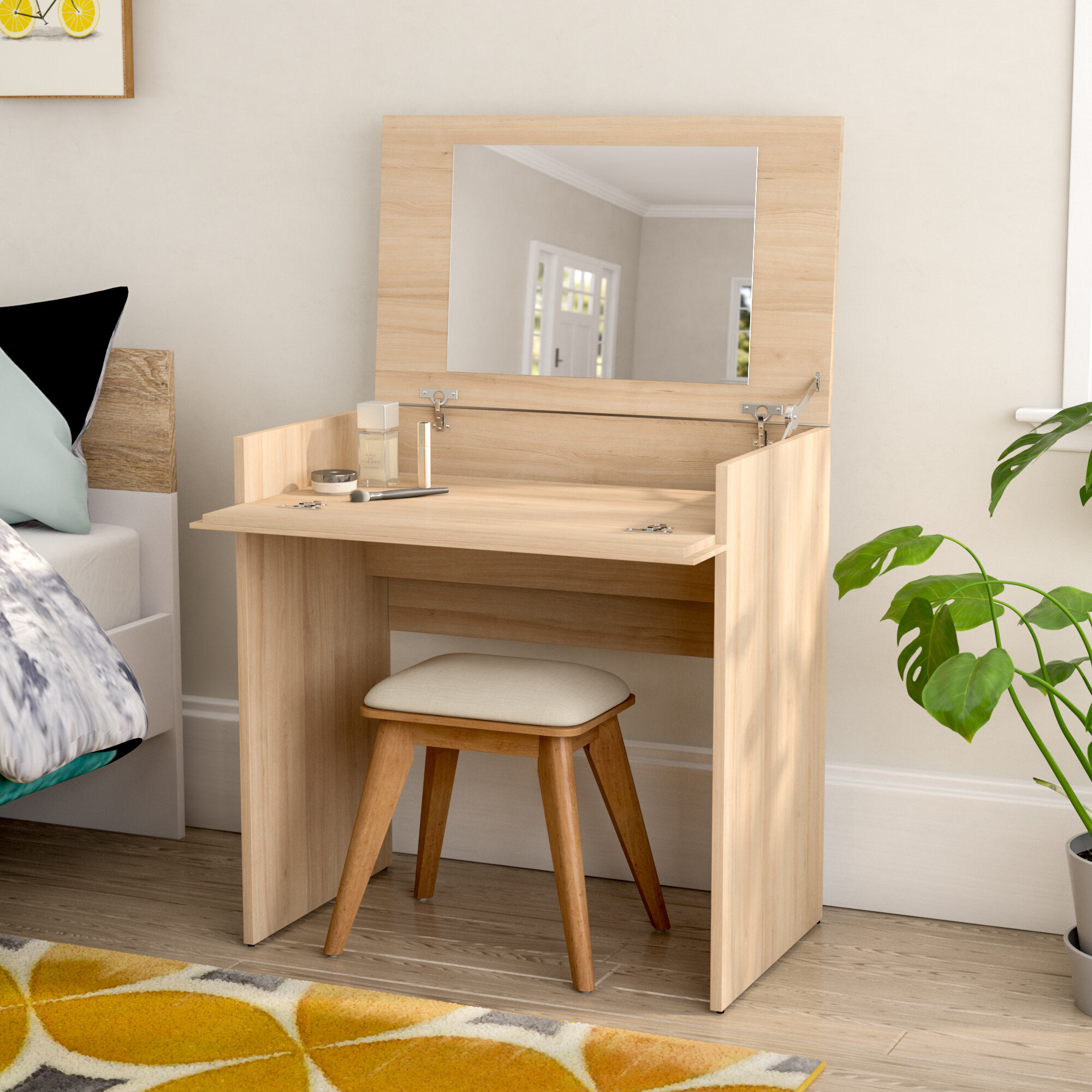 Wondrous Jansen Vanity Set With Mirror Gmtry Best Dining Table And Chair Ideas Images Gmtryco