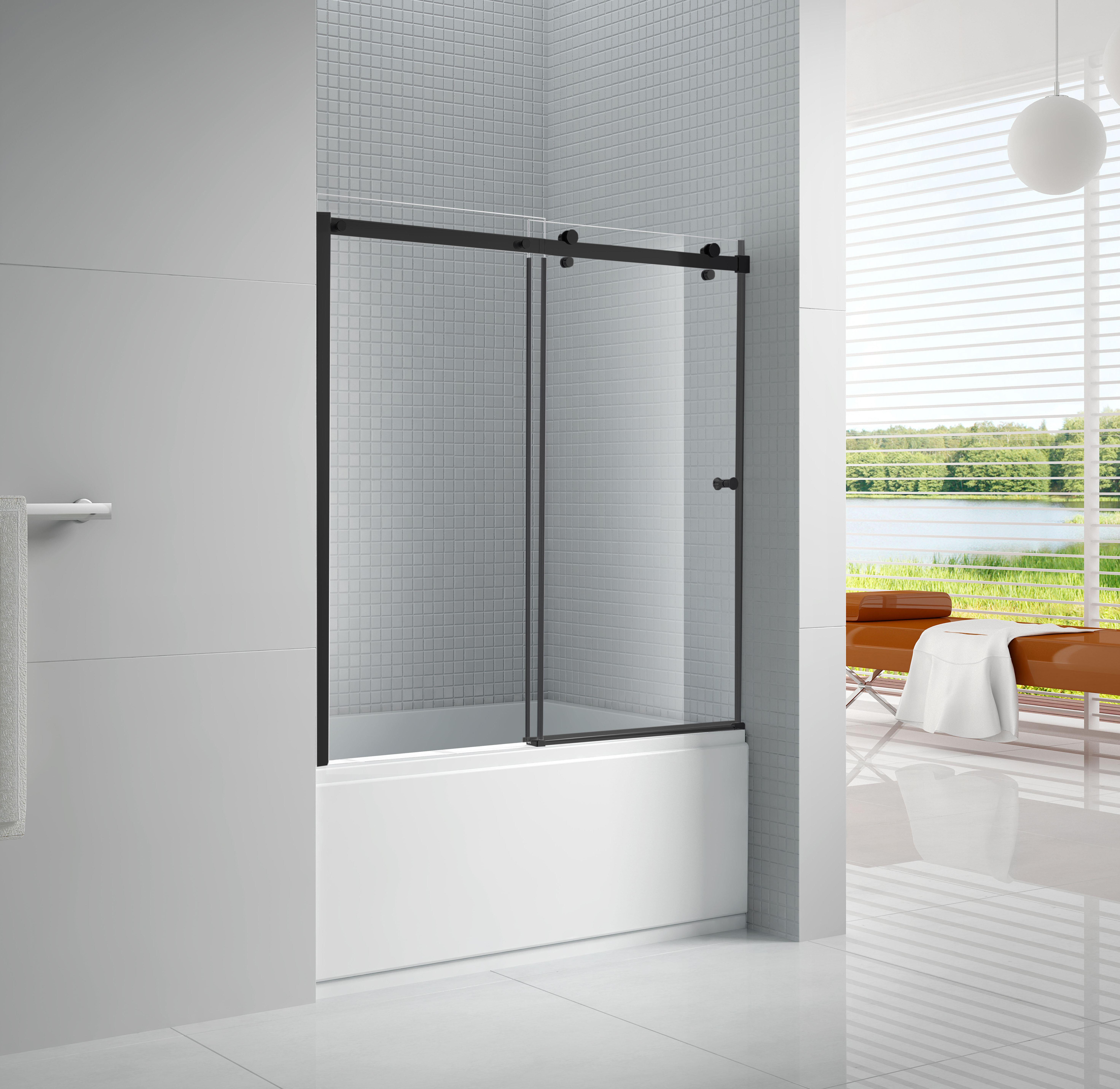 Primo 60 X 58 Bypass Frameless Tub Door