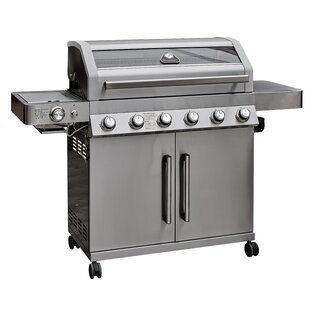 157cm Leduc Portable Liquid Propane Barbecue Grill With Cart And Side Shelves By Symple Stuff