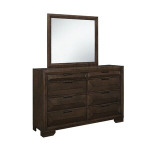 Wrought Studio Boos 8 Drawer Dresser with Mirror