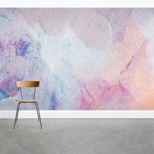 Pastel Watercolor Canvas 8' x 144 3 Piece Wall Mural