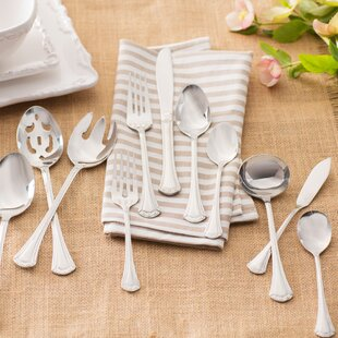 Peden 46 Piece Monogrammed Flatware Set, Service for 8