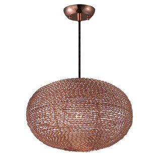 Bungalow Rose Hoover 1-Light Oval Shade Globe Pendant