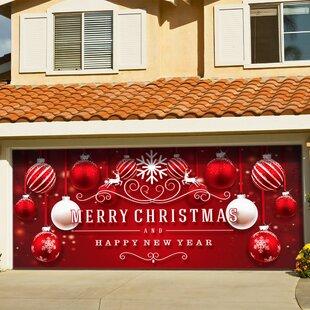 Ornaments in Snow Garage Door Mural