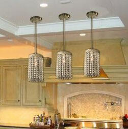 Everly Quinn Locicero Crystal Socket Ceiling 1 Light Semi Flush Mount