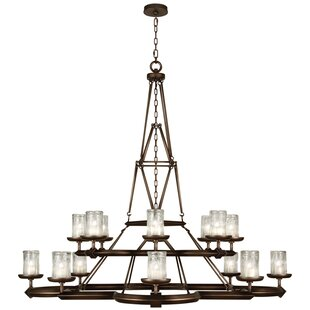 Liaison 16-Light Shaded Chandelier by Fine Art Lamps