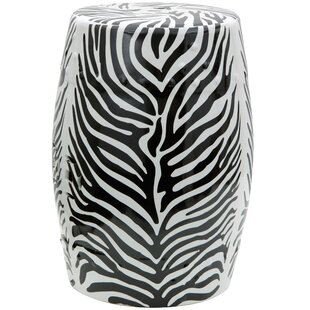 Zebra Leaf Porcelain Garden Stool