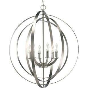 Orren Ellis Jetton 6-Light Globe Chandelier